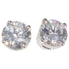 Pierre Famille Diamond Gold Stud Earrings