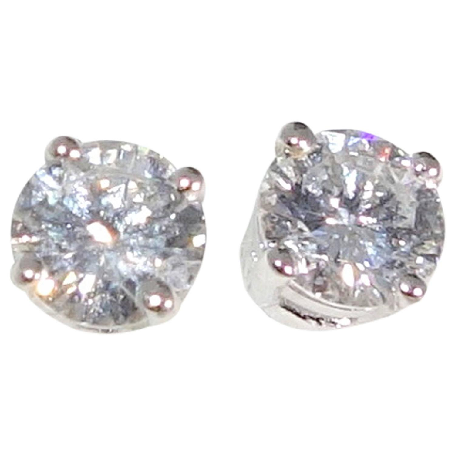 Pierre Famille Diamond Gold Stud Earrings For Sale at 1stdibs