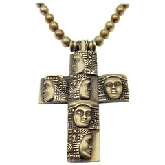 Barry Kieselstein-Cord Woman Of The World Gold Cross Pendant Necklace