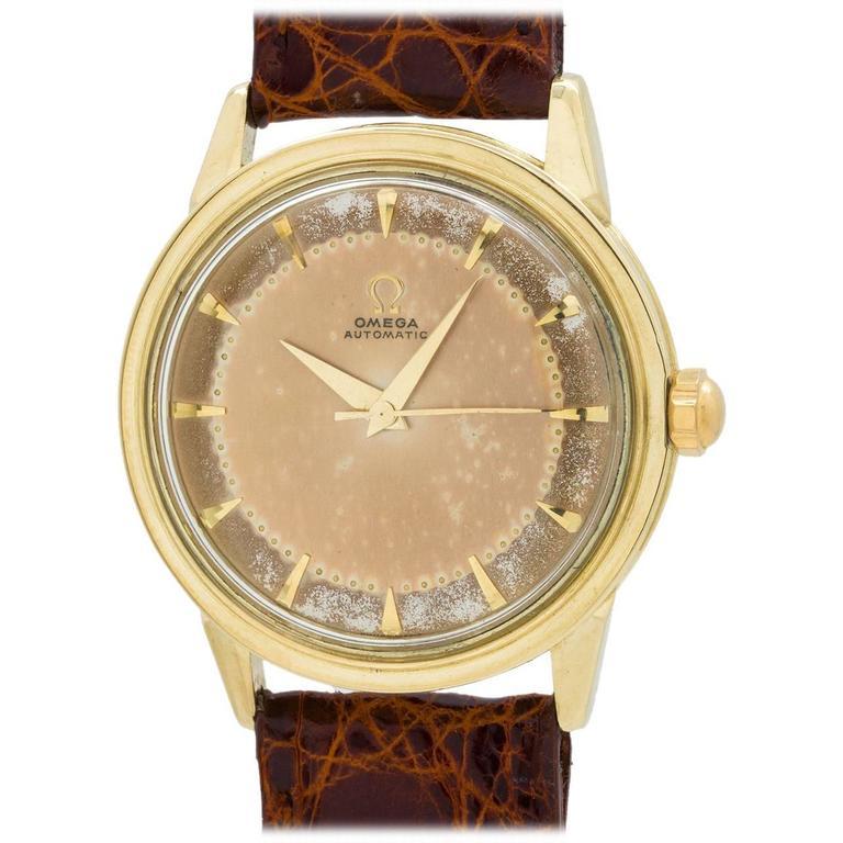 Omega Yellow Gold Automatic Wristwatch Ref 2736 SC