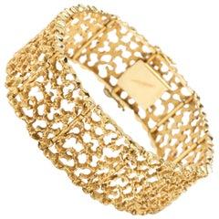 Gold Web Bracelet