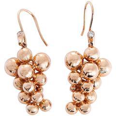 """Georg Jensen Diamond Gold  """"Moonlight Grapes"""" Earrings"""