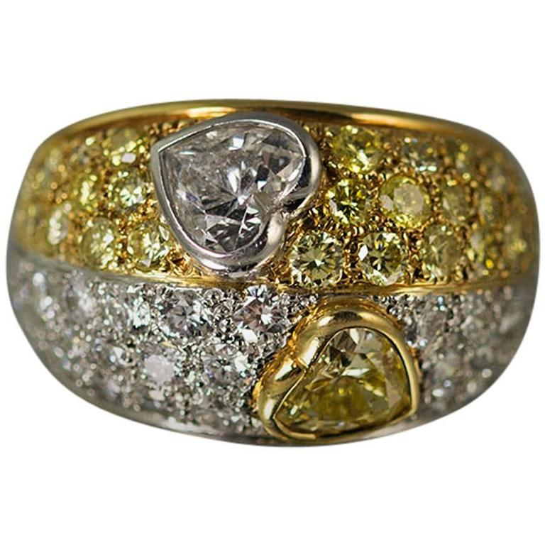 yellow gold platinum ring for sale at 1stdibs