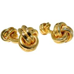 1970s Cartier Gold  Knot Cufflinks