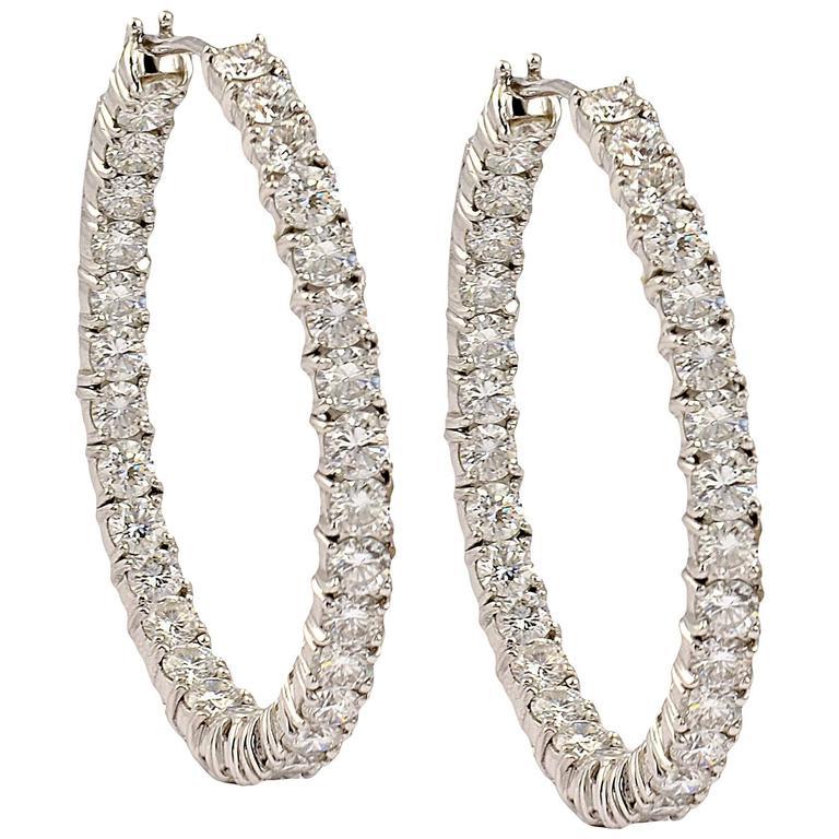 Graff Diamond Gold Hoop Earrings For