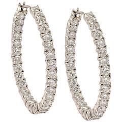 Graff Diamond Gold Hoop Earrings