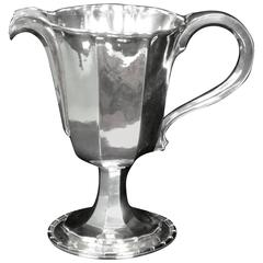 Rare Omar Ramsden 1932  Large Silver Jug