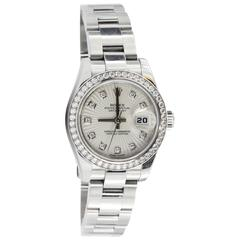 Rolex Lady's Stainless Steel & White Gold Oyster Perpetual Datejust Wristwatch