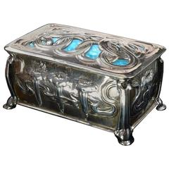 Omar Ramsden & Alwyn Carr 1902 Silver And Enamel Cigarette Box