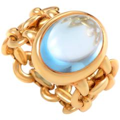 Hermes Topaz Gold Ring