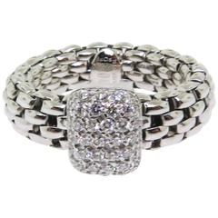 Fope Flexible Pave Diamond Ring