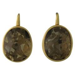 Pomellato Arabesque Gold Smokey Quartz Earrings