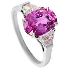 Bulgari Burma Pink Sapphire Diamond Ring