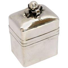 1940s William Spratling Silver Tea Caddy