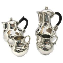 1950s Hector Aguilar Silver Tea and Coffee Set