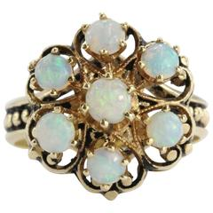 Antique Victorian Fiery Opal Gold Ring