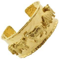 Gold Big Five African Safari Bracelet