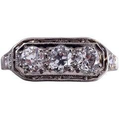 3 Diamonds Platinum Ring 1920