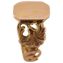 Early 1900s Gold Signet Ring