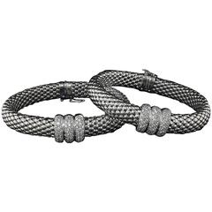 DAG Pair of Diamond Gold Bangle Bracelets