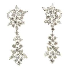 Lace Diamond Platinum Earrings