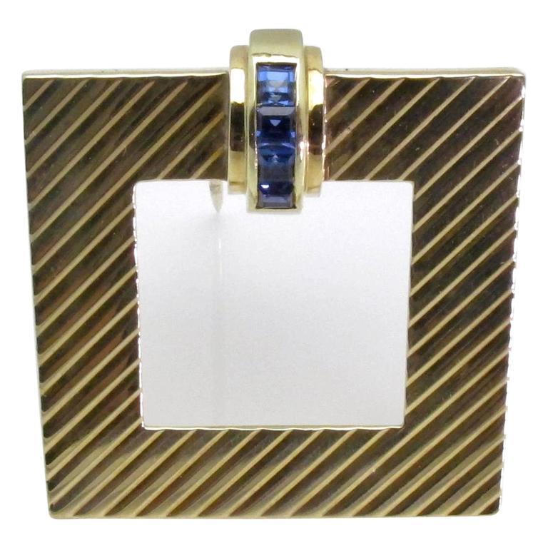 Tiffany & Co. Retro Sapphire Gold Brooch