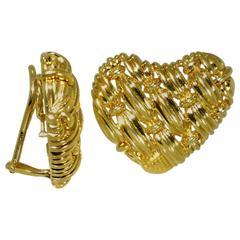 Tiffany & Co. Woven Gold Earrings