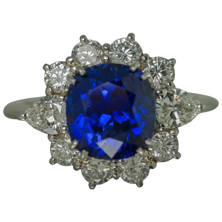 5.78 Carat Sapphire Platinum Ring