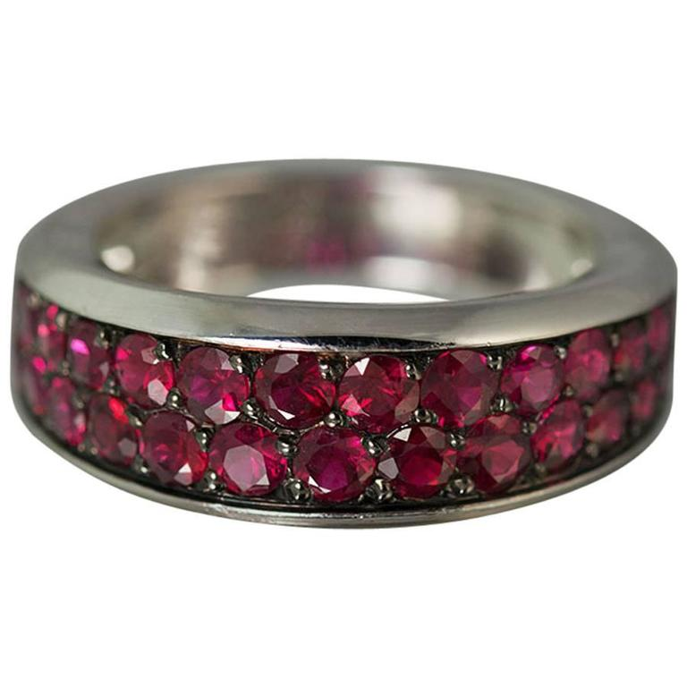 Mauboussin Ruby Gold Ring For Sale