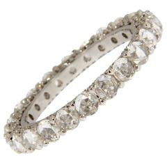 Jona White Diamond 18 Karat White Gold Eternity Band Ring
