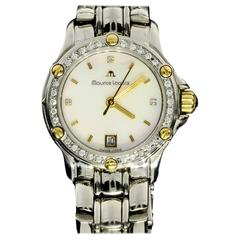 Maurice Lacroix Lady's Yellow Gold Stainless Steel Quartz Wristwatch Ref TI1034