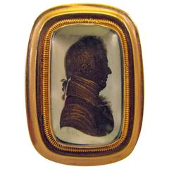 Antique Miers Silhouette Pin