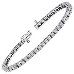 5.00 Carats Diamond Gold Tennis Bracelet