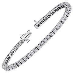 5.00 Carats Diamond Gold Tennis Bracelet