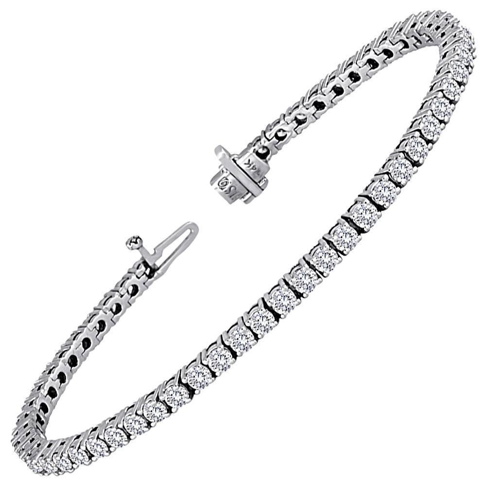 5.11 Carats Diamond Gold Tennis Bracelet