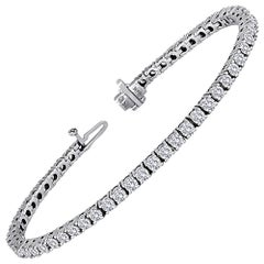 5.11 Carats Diamond Gold Tennis Bracelet
