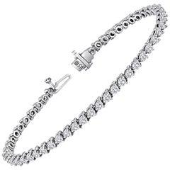 3.88 Carats Diamond Gold Tennis Bracelet