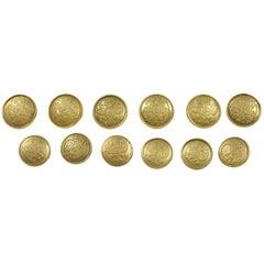 Antique Gold Blazer Button Set