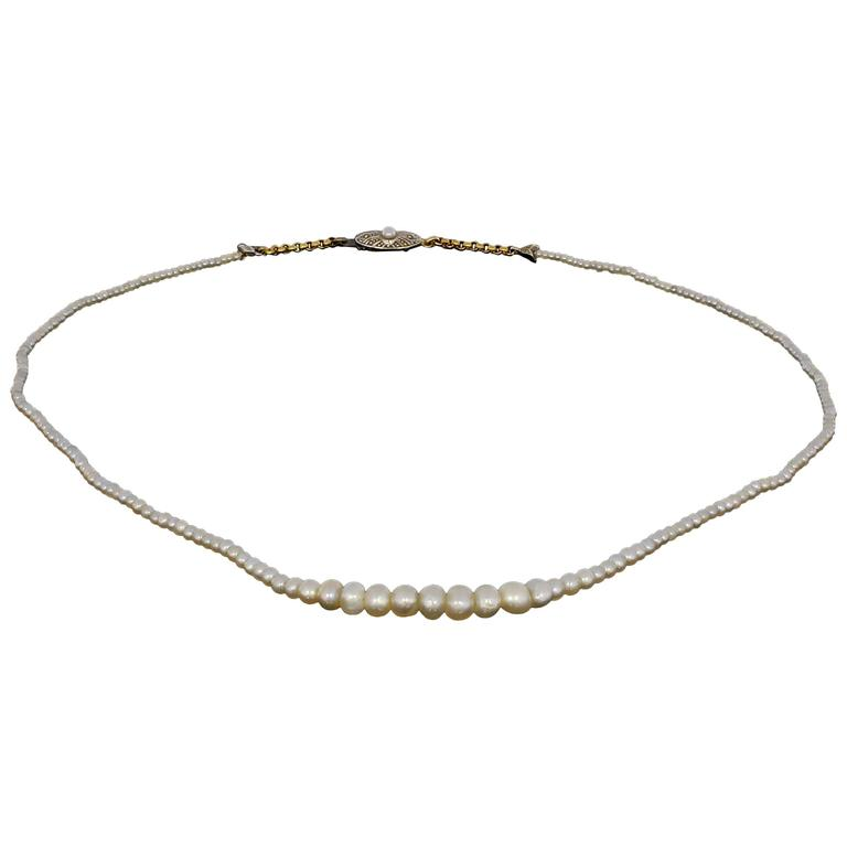 Art Nouveau Oriental Pearls Necklaces