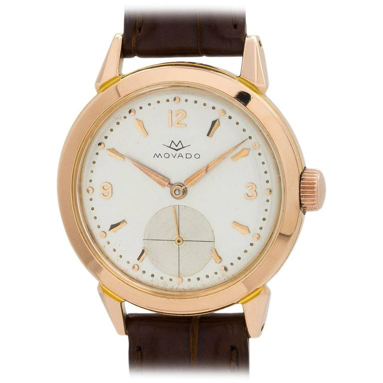 Movado Rose Gold Dress Wristwatch