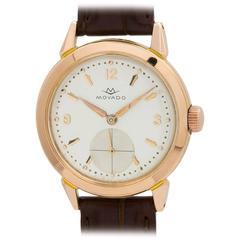Movado Rose Gold Dress Wristwatch