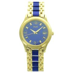 Piaget Lady's Yellow Gold Lapis Lazuli Wristwatch
