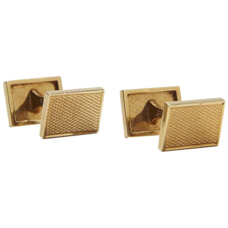 Van Cleef & Arpels Gold Cufflinks
