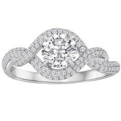 0.51 Carat Diamond Infinity Gold Ring