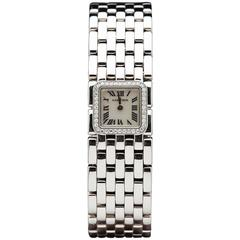 Cartier Lady's White Gold Diamonds Panthere Ruban Quartz Wristwatch