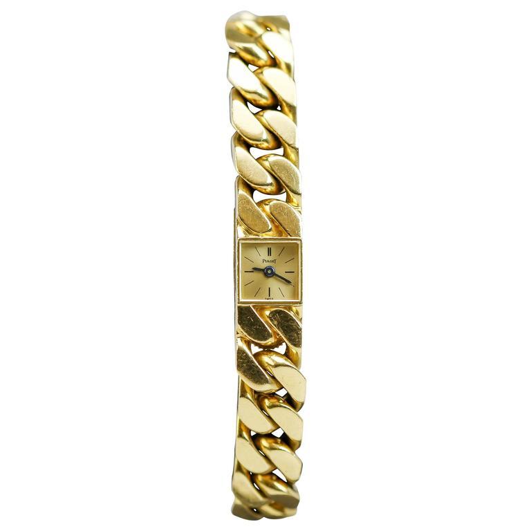Piaget Lady's Yellow Gold Link Bracelet Wristwatch