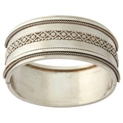 Victorian Bangle with Beautiful Wirework Detailing