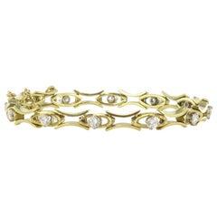 1,35 carat Brillant Cut Diamond Gold Bracelet