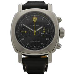 Panerai Stainless Steel Ferrari Flyback Chronograph Automatic Wristwatch