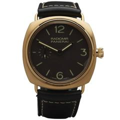 Panerai Rose Gold Radiomir Special Edition Mechanical Wind Wristwatch
